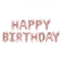"Ballons  ""Happy Birthday"" Rose Gold"
