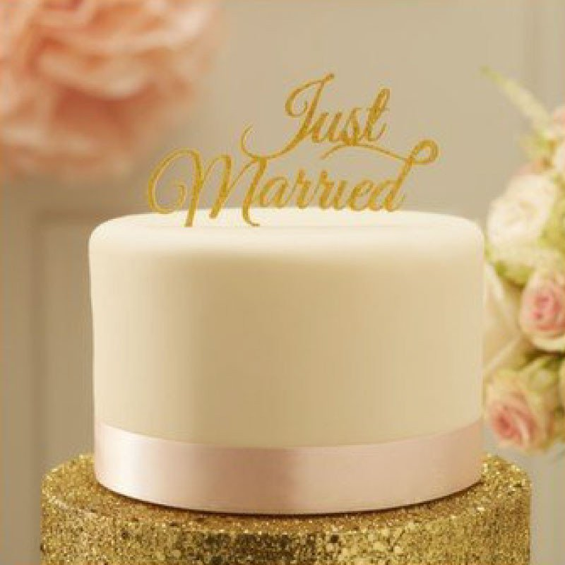 "Cake topper ""Just married"" or"