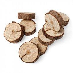 Rondins de bois naturels (x10)