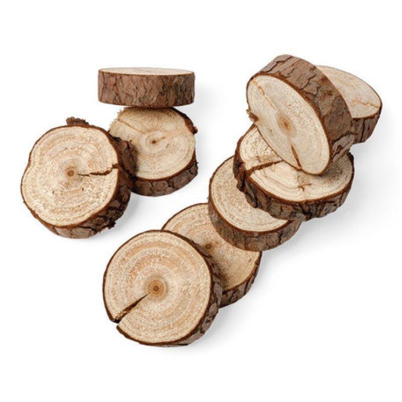 Ronds de bois naturels  - 10 unités
