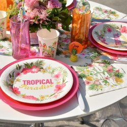 """10 Assiettes """"Tropical"""""""