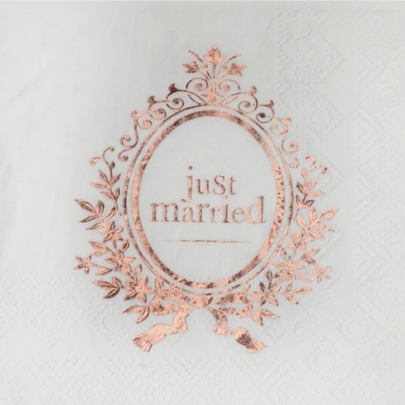 Serviette Just Maried -2O unités