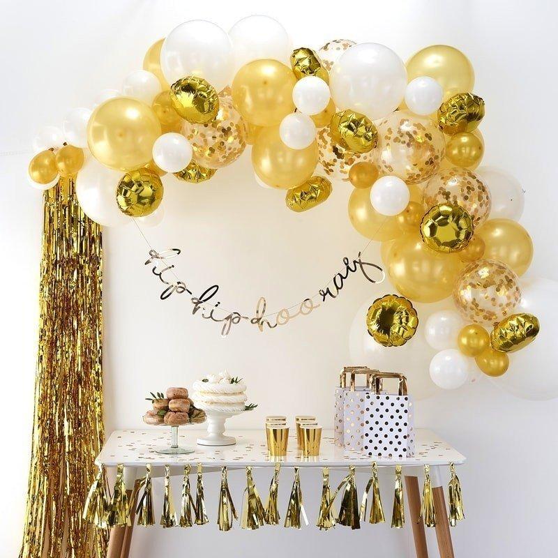Arche de ballons rose gold