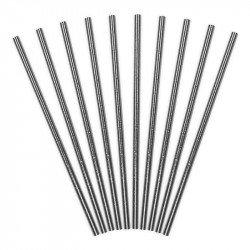 Pailles métallisées (x10) - Argent