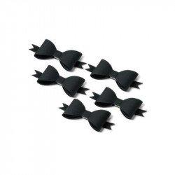 5 Noeuds papillon adhésifs noirs