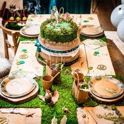 Chemin de table végétal en mousse naturelle