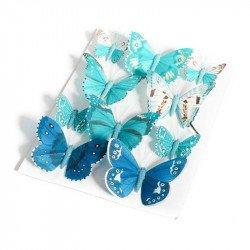 Papillons dégradée (x10) - Bleu