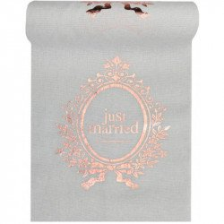 "Chemin de table ""just married"" 3 mètres"