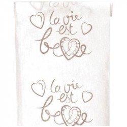"""Chemin de table """"la vie est belle"""""""