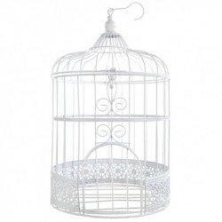 Tirelire Cage à oiseaux blanche