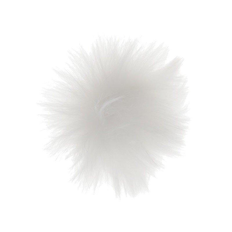 Pompon fourrure blanche - 4 pièces