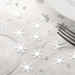 Duo confettis flocons et diamants Noël