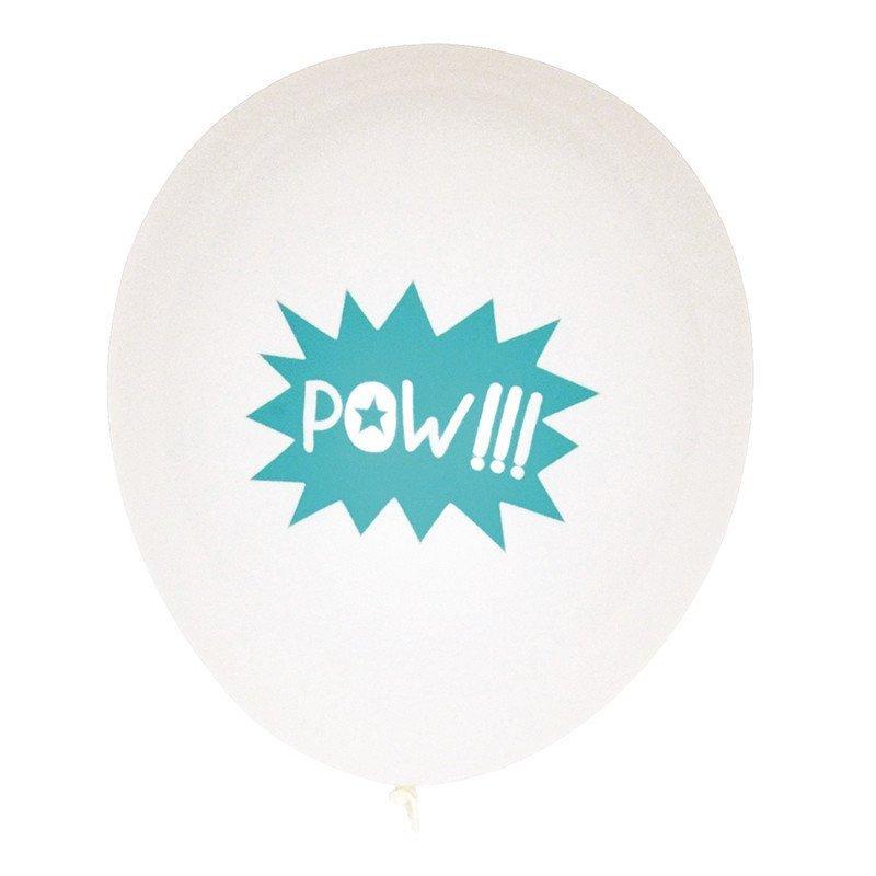Ballons Super héros POW -5 unités