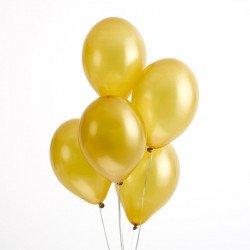 10 ballons irisés Or ou Argent