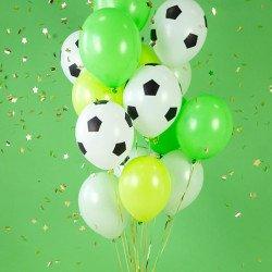 "5 ballons latex ""Ballons de foot"""