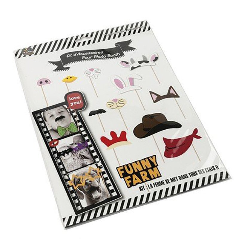 Photobooth animaux et cowboy -12 pièces