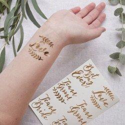 12 Tatouages Gold