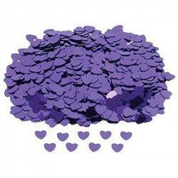 Confettis Petits coeurs violet