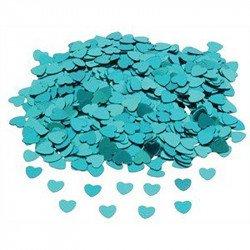 Confettis petits coeurs - Turquoise