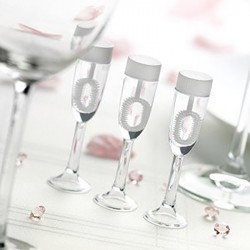 24 coupes de champagne bulles