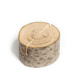 Marque place rondins de bois (x9)