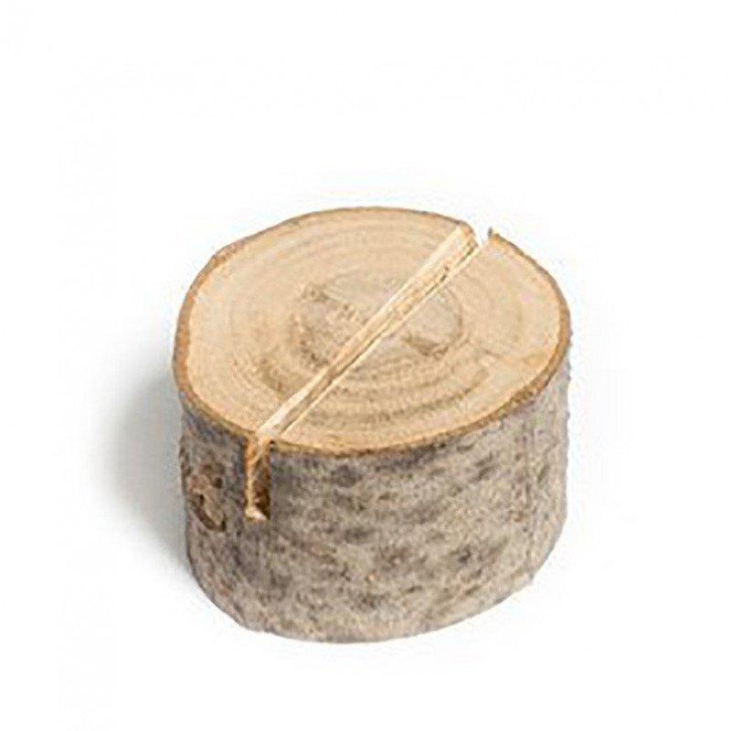 Marque place/ Porte-menu en rondins de bois (x9)