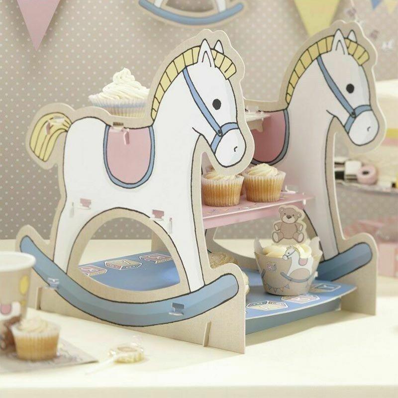Support à gâteau Mon petit cheval à bascule - 1 unité