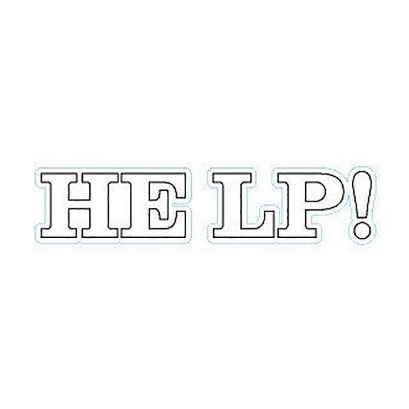"""Autocollant """"Help !"""" - a l'unité"""
