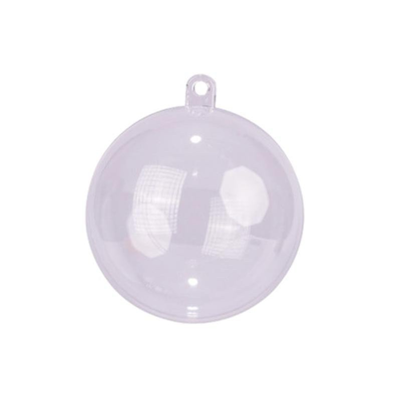 Boules PVC transparente - 6 cm (x10)