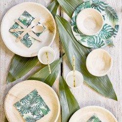 6 Assiettes écologiques en feuilles de palmier