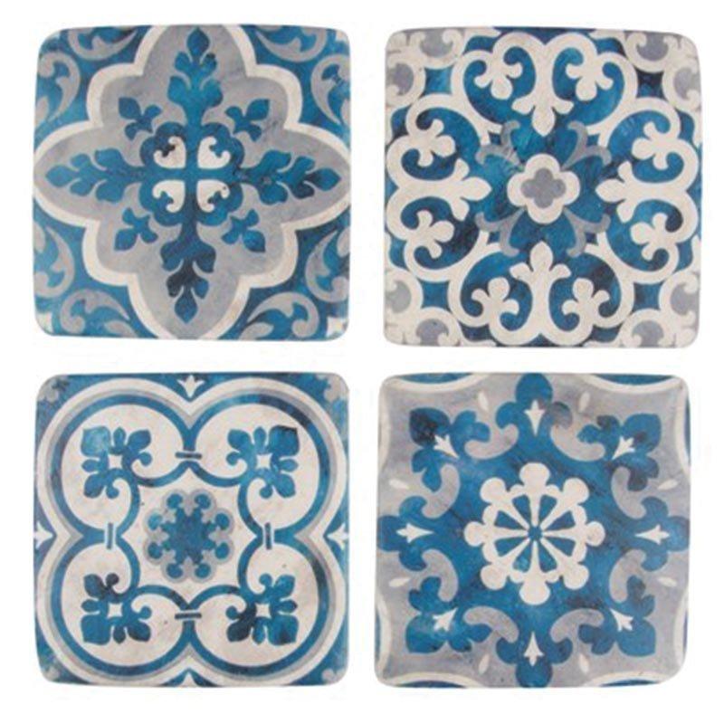 Dessous de verre style mosaïque méditerranéenne