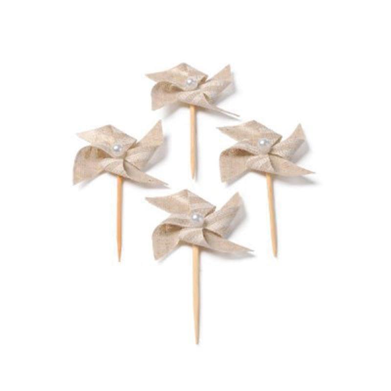 Minis pics moulin lin -4 unités