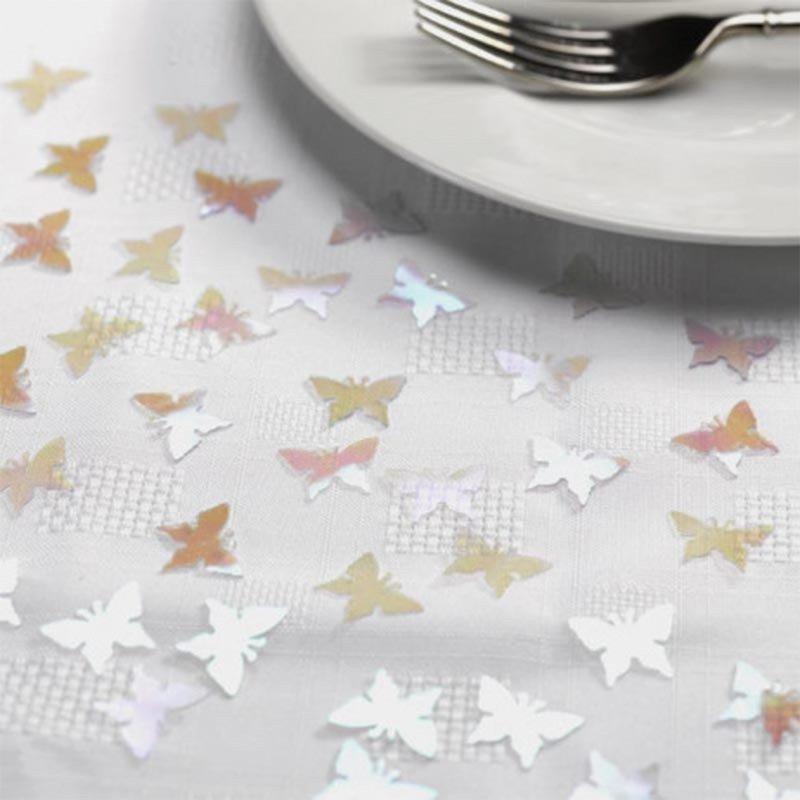 Confettis Papillon argent