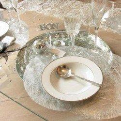 6 sets de table ronds métallisés