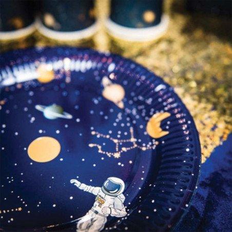 8 Assiettes astronaute