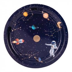 Assiettes Astronaute (x8)