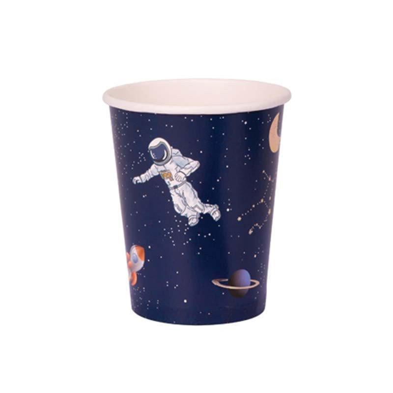 Gobelet astronaute bleu nocturne (x8)