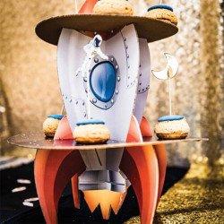 Présentoir à gâteaux Fusée & Espace