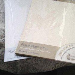 Marque-Places imprimables vierges blancs (x42)