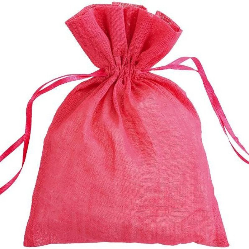 Sachet coton fuchsia (x6)