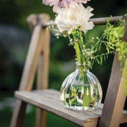 Vase boule rétro en verre