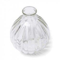 Vase boule retro en verre 9.5 cm de hauteur