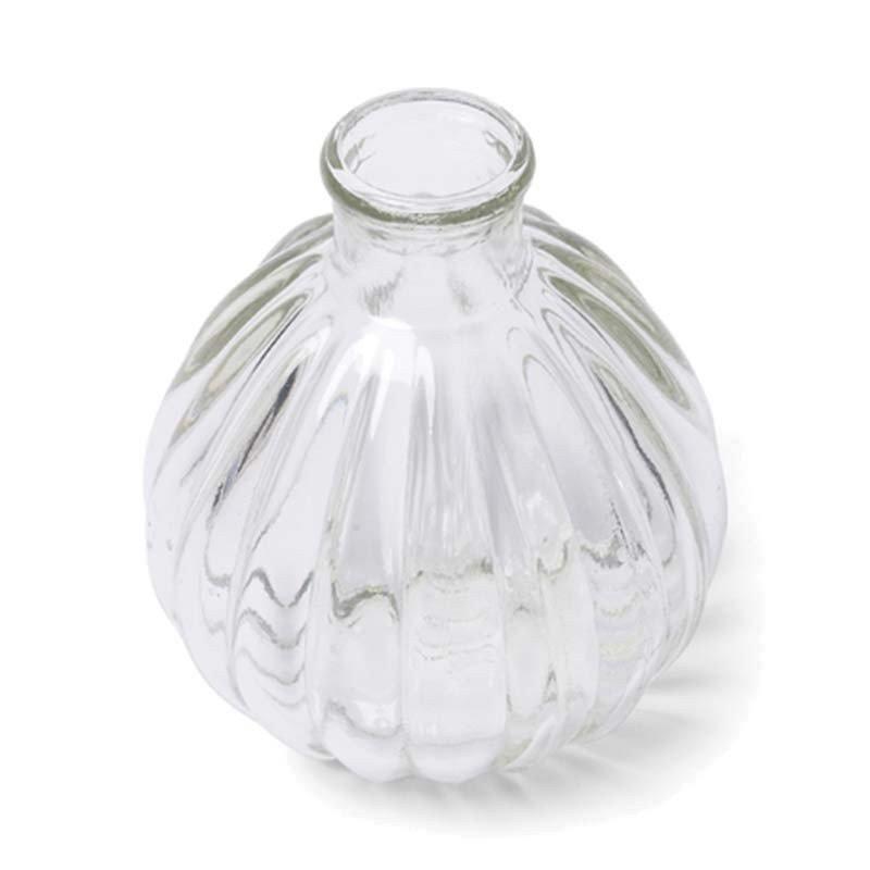 Vase boule retro en verre -1 unité
