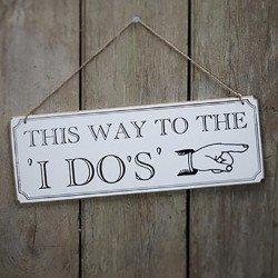 """Panneau en bois """"I DO'S"""""""