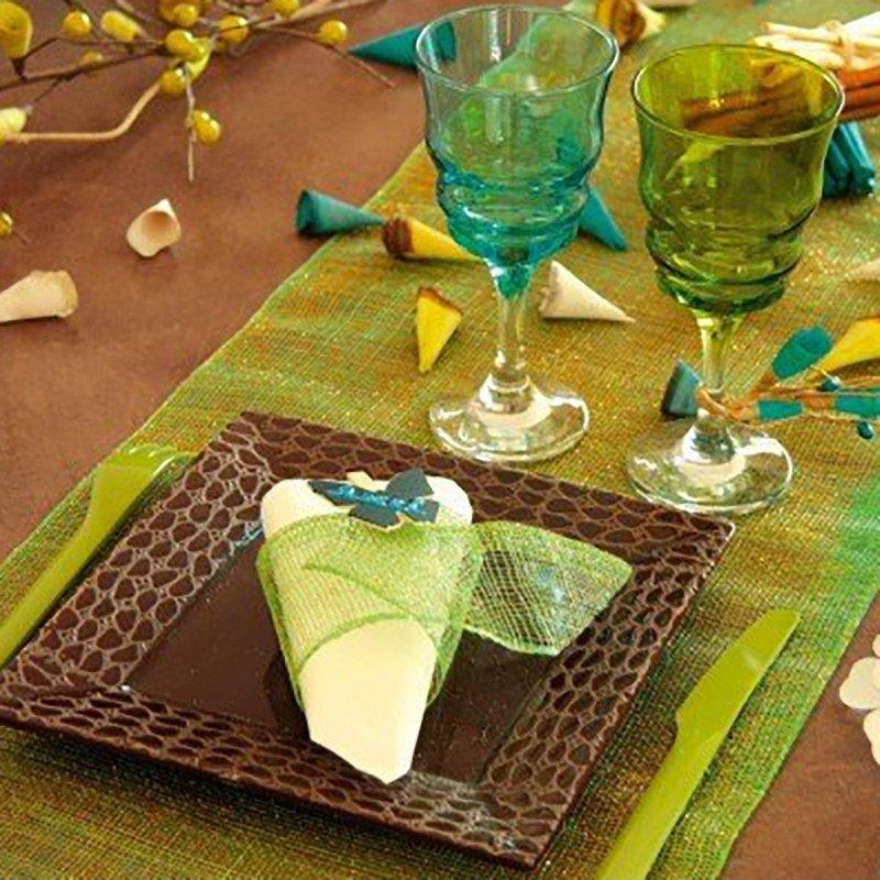 34cm pomme de table napperons place tapis tapis de table Napperon Fanon 6 pcs env