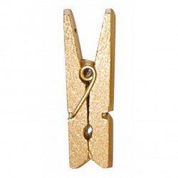 Pinces en bois métallisées (x12) - Or