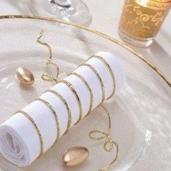Cordon papier métallisé armé Décoration de table
