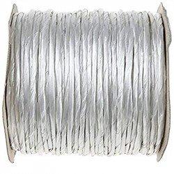 Cordon papier métallisé - Blanc