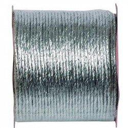 Cordon papier métallisé - Argent