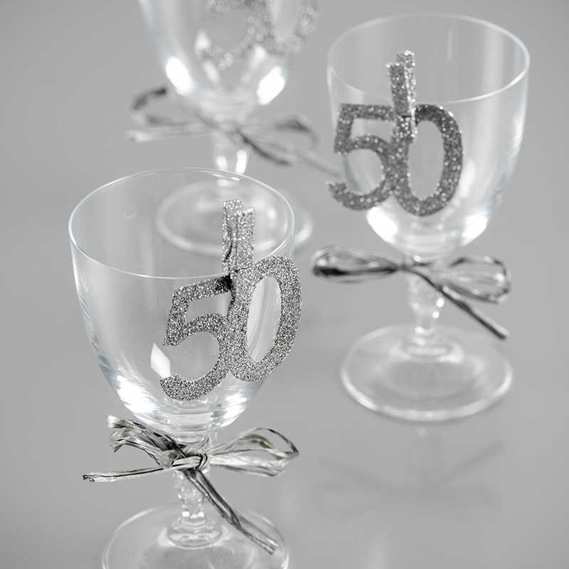 50th Verre à Vin Charme anniversaire souvenir spécial anniversaire